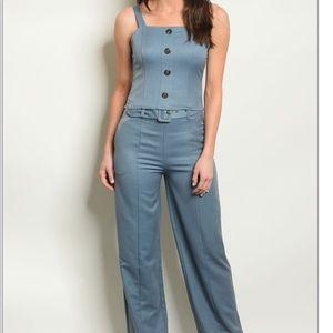 Pants - Blue Top and Pants